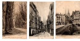 "64 - BAYONNE . "" Allées Paulmy "", "" Rue Port Neuf "" & "" Pont Marengo "" . 3 CARTES POSTALES - Réf. N°7951 - - Bayonne"