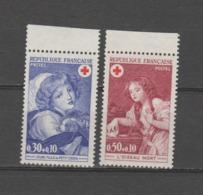 FRANCE / 1971 / Y&T N° 1700/1701 ** : Croix-Rouge (2 TP) - Gomme D'origine Intacte - France
