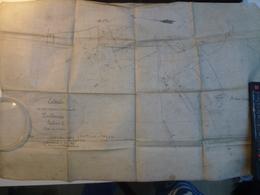 Ancien Plan Pouldreuzic Sur Papier Toilé 1924 29 Finistère Pont L'Abbé - Documents Historiques