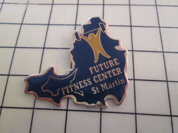 Pin715b Pin's Pins / Rare Et De Belle Qualité  : SPORTS / ANTILLES ST MARTIN HALTEROPHILE FUTURE FITNESS CENTER - Weightlifting
