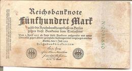 Billet De 500 Mark  1922 - [ 3] 1918-1933 : Repubblica  Di Weimar
