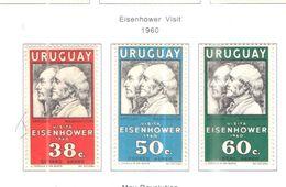 Uruguay PA 1960 Visita Eisenhower   Scott.C203/205 Nuovi See Scans On Scott.Page - Uruguay