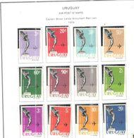 Uruguay PA 1960/61 Mon.Lanza Rist.  Scott.C211/222 Nuovo See Scans On Scott.Page - Uruguay