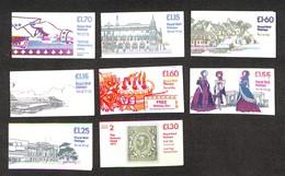 "2392 GRAN BRETAGNA - Libretti ""QE II Folder Booklets (basic Stamps) – Insieme Di 8 Pezzi – Nuovi Da Esaminare - Francobolli"