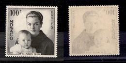 2460 MONACO - 1958 – 100 Franchi Nascita Principe Alberto (unif.489) – Gomma Integra (15) - Francobolli