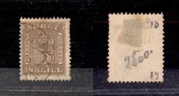 2476 NORVEGIA - 1863 – 24 Skilling Leone Rampante (11) – Usato (115) - Francobolli