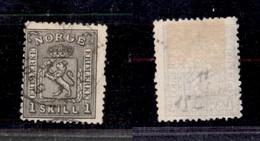 2477 NORVEGIA - 1867/1868 – 1 Skilling Leone Rampante (unif.11) – Usato (50) - Francobolli
