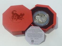 2018 Singapore Zodiac Dog 狗 $2 Nickel-Plated Zinc Proof-Like Coin (SC-96) - Singapur