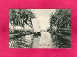 Sri Lanka, Negombo Canal, Animée, 1905, () - India