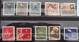 Chine 036, 1958 Lot 10 Timbres - Used Stamps