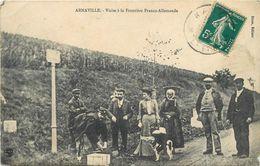 ARNAVILLE - Visite à La Frontière Franco-Allemande.(carte Vendue En L'état) - Douane