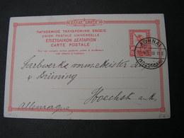 GR Karte Nach Höchst Bei Frankfurt 1910 - Ganzsachen