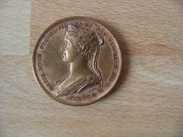 Medaille Bronze  Exposition Franco Polonaise 1919 Chabrie Tomaszewicz Effigie Maria Regis Stanisl - France