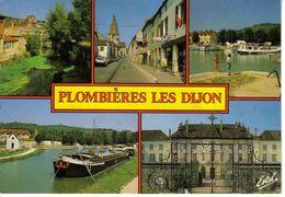 21 Plombières Les Dijon L'Ouche Rue De Velars Canal VOIR ZOOM Péniche Nommée Henny Caserne CRS 40 Tabac LOTO En 1991 - Dijon