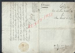 NAPOLÉON PAR GRACE DE DIEU EMPIRE ACTE 1808 OBLIGATION M LAURENT LAGNY X GOUVERNE LIRE 4 PAGES : - Manuskripte