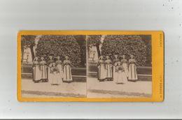 GROUPE D'OSSALOISES RARE  (PHOTO STEREOSCOPIQUE ANCIENNE) PHOTO TORRES ET CIE LOURDES - Stereoscopic