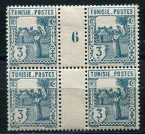 TUNISIE N°122 * EN BLOC DE 4 AVEC MILLESIME 6 (1926) - Neufs