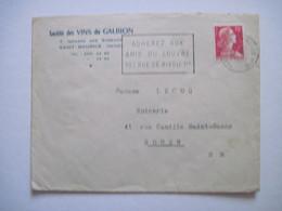 1955  Société Des VINS Du GALBIONS  SAINT MAURICE (Seine) - Marcophilie (Lettres)