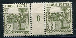 TUNISIE N°121 ** EN PAIRE AVEC MILLESIME 6 (1926) - Nuevos