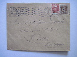 1947  L. LEMEE TROUVILLE-sur-MER - Marcophilie (Lettres)