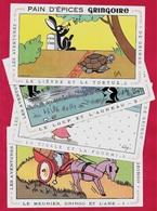 BUVARD (Lot De 4) FABLES De LA FONTAINE Du Pain D'Epices GRINGOIRE (45 Pithiviers) Par Illustrateur Coq * Humour - Gingerbread