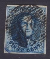 N° 7 Margé BDF  DEMI LETTRES EN FILIGRANE Planche III Position 102 Retouche - 1851-1857 Médaillons (6/8)