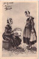 Types Et Costumes De France Jour De Marché à Quimper Illustrateur Charles Homualk - Quimper