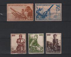 DUITSLAND 1940 1941 HELDEN GEDENKTAG 5 ZEGELS MET GOM - Nuovi