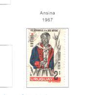 Uruguay PA 1967 Ansina   Scott.C311+used See Scans On Scott.Page - Uruguay