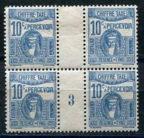 TUNISIE TIMBRE-TAXE N°40 ** / * EN BLOC DE 4 AVEC MILLESIME 3 (1923)  (millésime **) - Tunisie (1888-1955)