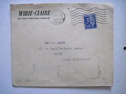 1939 MARIE-CLAIRE PARIS 2ème - Postmark Collection (Covers)