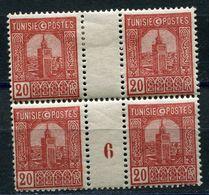 TUNISIE N°126 ** / * EN BLOC DE 4 AVEC MILLESIME 6 (1926)  (millésime **) - Tunisie (1888-1955)