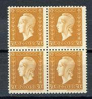 FRANCE -  M. DE DULAC  - N° Yvert  683** Bloc De 4 - 1944-45 Marianne De Dulac
