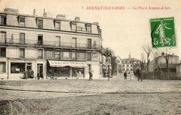 CPA - AULNAY-sous-BOIS (93) - Aspect De La Place Jeanne-d'Arc Au Début Du Siècle - Aulnay Sous Bois