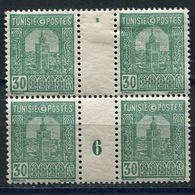 TUNISIE N°130 ** / * EN BLOC DE 4 AVEC MILLESIME 6 (1926)  (millésime **) - Tunisie (1888-1955)