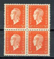 FRANCE -  M. DE DULAC  - N° Yvert  685**   Bloc De 4 - 1944-45 Marianne De Dulac