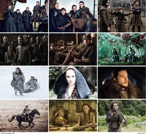 12 Postcards Of Game Of Thrones TV SERIES Moive Film Poster , Postkarte Carte Postale - Séries TV