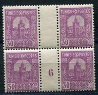 TUNISIE N°129 ** EN BLOC DE 4 AVEC MILLESIME 6 (1926) - Tunisie (1888-1955)