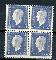 FRANCE -  M. DE DULAC  - N° Yvert  686** Bloc De 4 - 1944-45 Marianne De Dulac