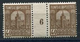 TUNISIE N°131 ** EN PAIRE AVEC MILLESIME 6 (1926) - Tunisie (1888-1955)