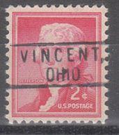 USA Precancel Vorausentwertung Preo, Locals Ohio, Vincent 801 - Vereinigte Staaten