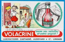 """BUVARD """"VOLACRINE Sauve Vos Volailles Et Votre Argent"""" Elevage Basse-Cour Coq Poules CASTAGNE AUDEVARD & Cie 87 LIMOGES - Agriculture"""