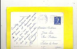 """UNIVERSITÄTSSTADT TUBINGEN . OBLIT """" POSTES AUX ARMEES """" DU 31-12-1957 . 2 SCANES - Marcophilie (Lettres)"""