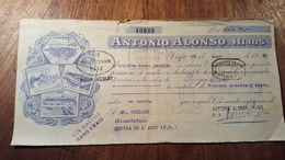 MANDAT A ORDRE ESPAGNE ILLUSTRE  1935 VIGO ANTONIO ALONSO - Wissels