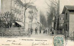 CPA - AULNAY-sous-BOIS (93) - Aspect Du Passage à Niveau Et De L'avenue De La Gare En 1904 - Aulnay Sous Bois