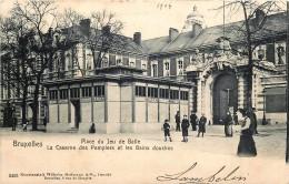 Bruxelles - Place Du Jeu De Balle - La Caserne Des Pompiers Et Les Bains Douches - Edit. Hoffmann N° 3453 - Avenues, Boulevards