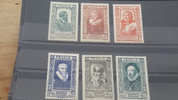 LOT 389163 TIMBRE DE FRANCE NEUF** LUXE N°587 A 592 VALEUR 15 EUROS - Nuevos