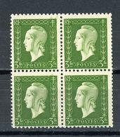 FRANCE -  M. DE DULAC  - N° Yvert  694**  Bloc De 4 - 1944-45 Marianna Di Dulac