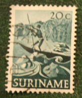 20 Ct Inheemse Voorstellingen NVPH 306 1953-1954 Used / Gestempeld SURINAME / SURINAM - Surinam ... - 1975