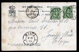 A5223) Luxemburg Karte Wiltz 4.6.1900 N. Belgien Jemeppe - 1895 Adolphe Profil